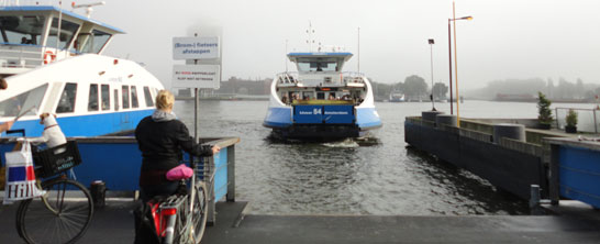 The ferry to Amsterdam North