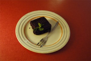 brownie at Latei on the Zeedijk in Amsterdam