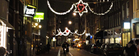 Amsterdam, Haarlemmerstreet holiday lights 2010