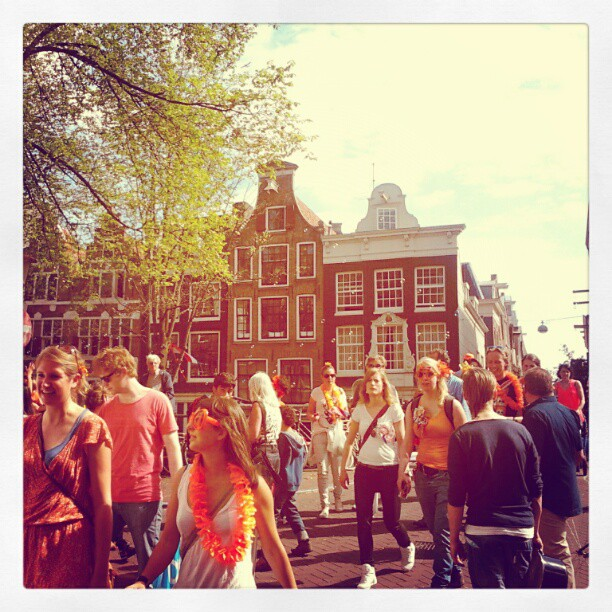 Walking through the Jordaan on Queensday, 2012