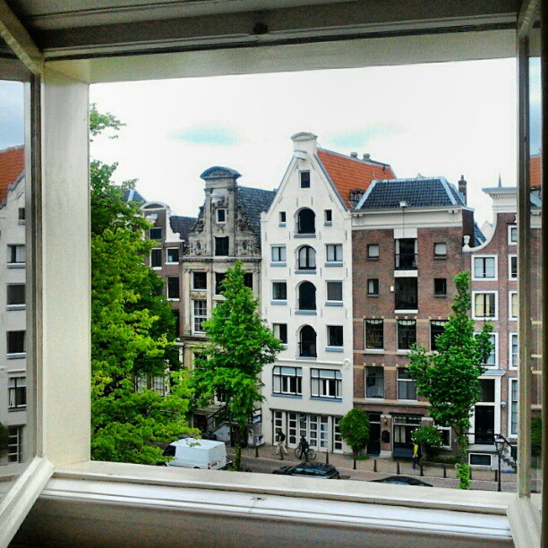 view from top floor on Keizersgracht Amsterdam