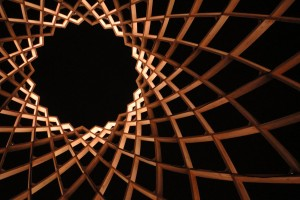 inside the egg on the Amstel, Amsterdam Light Festival 2012